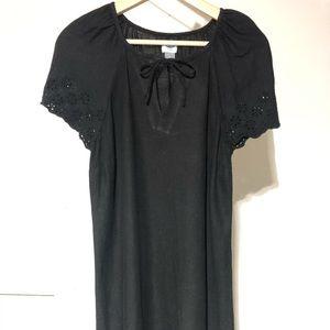 Black Old Navy Tie-Neck Swing Dress
